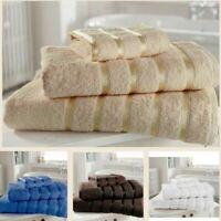 Kensington Stripe 100% Egyptian Cotton Hand Towels Bath Sheets Soft Absorbent
