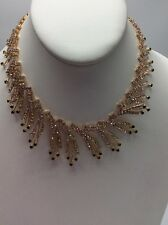"""Betsey Johnson Angels & Wings Crystal Spray Collar Necklace, 14"""" + 4"""" BA-3"""