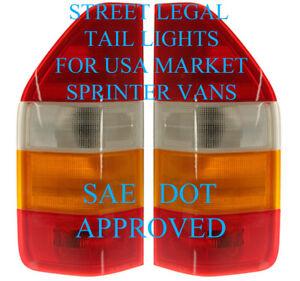 Sprinter van Tail Light Set. One Pair LH+RH SAE-DOT Approved 1995-2006