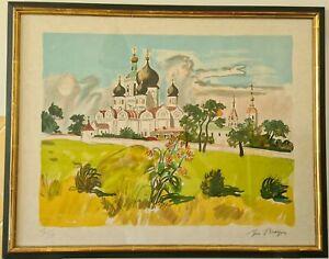 YVES BRAYER (1907-1990) Lithographie Originale sur Japon Signé Numérotée RUSSIE