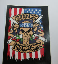 GUNS N ROSES STICKER COLLECTIBLE RARE VINTAGE 1990'S METAL SLASH WINDOW DECAL
