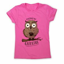 Caffeine owl - coffee women's t-shirt