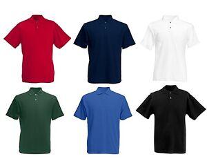 Men Polo Shirt Casual Plain T-Shirt Golf Top Summer Sport Shirt with Collar New