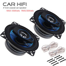 "Two Car Audio Super Loud 4""  Car Hifi Loud Speaker Coaxial Horn LOW MID RANGE DJ"