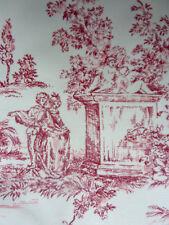 coupon de tissu, Toile de Jouy, romantique, personnages, 136 par125 cm, neuf