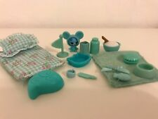 LITTLEST PET SHOP TURQUOISE/BLUE ACCESSORIES LOT~VERY GOOD DEAL