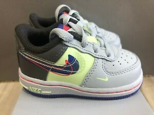 New Toddler Nike Air Force 1 LV8 1 (TD) Platinum Violet Shoes CU1032-001 Size 4c