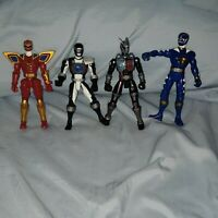 Mighty Morphin Power Rangers Red Ranger  Black Blue Gray Armor Action Figure LOT