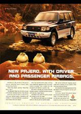 "1998 MITSUBISHI PAJERO 4WD V6 A3 CANVAS PRINT POSTER FRAMED 16.5""x11.7"""