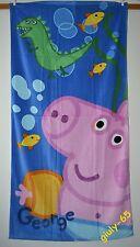 Asciugamano Peppa Pig GEORGE 70 x140 idea regalo Telo Mare Piscina Bagno Bambino