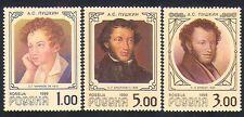 Russia 1999 Pushkin/Writer/Poetry/Literature/Books/People 3v set (n33090)