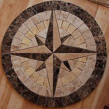 "Marble travertine tile Mosaic Medallion S 32"" #49"