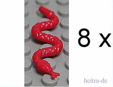 LEGO - 8 x serpent rouge/serpents/red snake/30115 article neuf