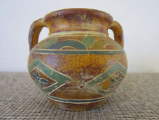 Western Americana, Hand Thrown, / Painted Pottery Bowl