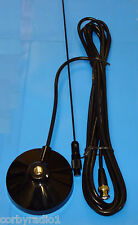 TAXI MAG MOUNT ANTENNA - BLACK  - BNC - 89mm MAG VHF MARINE/AMATEUR COMPLETE 6