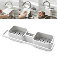 Kitchen Sink Faucet Sponge Soap Storage Cloth Towel Draining Rack Holder Shelf