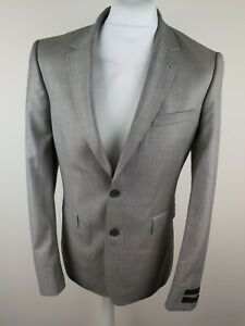 Mens Ted Baker Wool Blazer Suit Jacket Grey 38r Tagged Sample 38 Chest