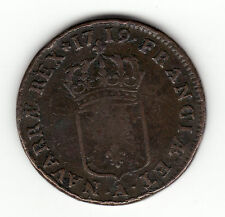 1719 A, French Colonial copper sol, John Law period