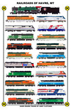 "Railroads of Havre, Montana 11""x17"" Poster Andy Fletcher signed"