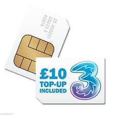Three 3 Pay As You Go Trio Sim Card