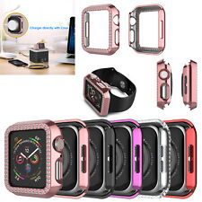 For Apple Watch Series 5 4 3 2 1 38/40/42mm Bling Crystal Protective Case Cover