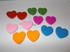 Heart Wooden Jewellery Making Beads