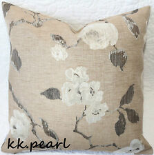 "John Lewis Retro Vintage Cushion Cover LINEN ROSES Fabric 16"" Double Sided"