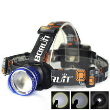 BORUIT 5000LM XM-L T6 LED Zoomable Headlamp Headlight Head Torch Lamp Light Blue