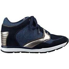 GUESS Liela Blue Denim Wedge Sneakers New Retail $89 Size 9 1/2