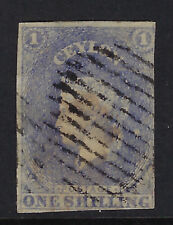 CEYLON : 1857 ONE SHILLING slate-violet IMPERFORATE SG 10 used