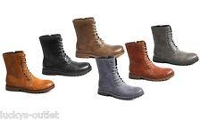 Giraldi Lennon Men's Combat Military Style High Lace Up COGNAC Boots Size 12