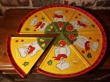 "Certified International Pizza Chef Slice plate set of 6 ea 10"", Jennifer Brinley"