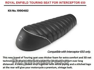 "Genuine Royal Enfield Interceptor 650 ""TOURING SEAT, BLACK"" (NEW)"