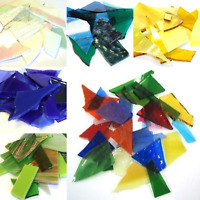 Crazy Paving Stained Glass for Mosaic Art and Craft - 200g Various Colours
