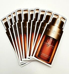 CLARINS 10 X DOUBLE SERUM SAMPLES HYDRIC & LIPIDIC SYSTEM 2 SIDED SAMPLES NEW IN