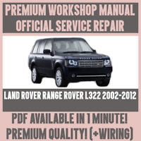 *WORKSHOP MANUAL SERVICE & REPAIR for LAND ROVER RANGE ROVER L322 2002-2012