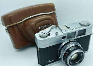 Vintage OLYMPUS - ACE Rangefinder film Camera w/original case Good Working Order