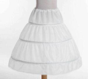RULTA A-line 3 Hoops Wedding Flower Girl Underskirt Petticoat Kids Crinoline D1