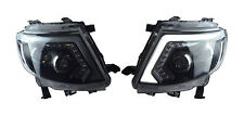 Set Head Lamp Lights Led Ccfl Black Fits Ford Ranger T6 Wildtrak Xlt 2012 - 2015