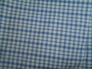 Vintage Liz Claiborne TWIN Size Bedskirt Blue White Plaid Check