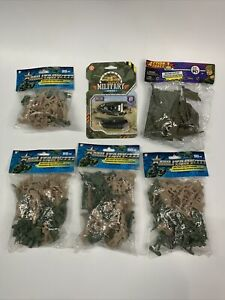 Army Men Toy Soldiers Military Tan/Green Plastic Figurine Action Figure Lot New
