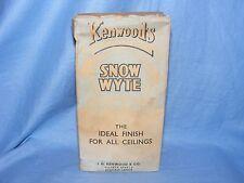 Vintage Kenwoods Snow Wyte Plaster Patcher Advertising Cardboard Box Packaging