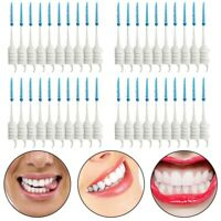 1X(40pcs Teeth Toothpicks Dental Floss Picks Interdental Brush Stick Tooth  8N3)