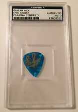 Eric SInger KISS Signed Auto Blue Fender Guitar Pick PSA/DNA Slabbed