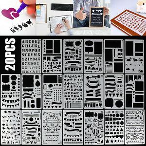 20X Für Bullet Journal Schablone Kunststoff Planer Diy Schablone Tagebuch Dekor