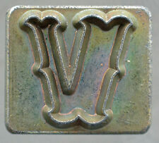 """Leather Tools Tandy  Craftool Alphabet Replacement 1/2 """" letter V Stamp"""