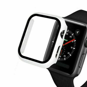 Temper Glass for Apple Watch Series 6 5 4 3 SE Film Screen Protector Bumper Case