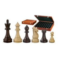 Chess Figures - Justitian - Wood - American Staunton - Kings Height 4 1/8in