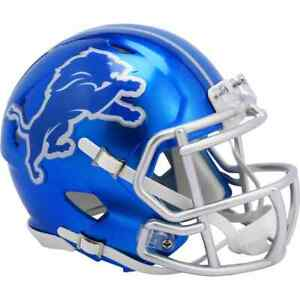 Detroit Lions Unsigned Riddell FLASH Alternate  Speed Mini Helmet