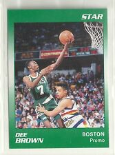 Dee Brown 1991 Star Company Boston Celtics  Basketball Promo Card